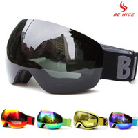 882a0314553 Professional Big Frame Ski Goggles Double Lens UV400 Anti-fog Adult  Snowboard Skiing Glasses Women Men Snow Eyewear for helmet C18110301