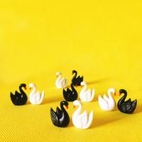 ingrosso miniature garden gnome-10 pezzi / cigno bianco e nero / casa delle bambole // miniature / adorabile carino / fata giardino gnome / muschio terrario arredamento / artigianato / bonsai / fai da te