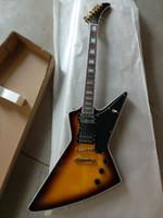 Wholesale guitar electric gold hardware for sale - Starshine Cutom Shop Explorer Electric Guitar Figured Top With binding Gold Hardware Sunburst