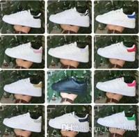 zapatillas de correr precio más bajo al por mayor-Precio más bajo NUEVA STAN SMITH SNEAKERS CASUAL DE CUERO DE HOMBRES Y MUJERES DEPORTIVOS RUNNING JOGGING ZAPATOS HOMBRE FASHION CLASSIC FLATS