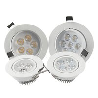 Wholesale bright dimmable ceiling lights for sale - Group buy LED Downlights W W W W W Degree Bright Dimmable Light Bulb Downlights Round Driver LED Lights Ceiling Light LED Recessed Downlight
