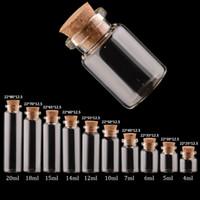 botellas viales de corcho al por mayor-Frascos de vidrio vacíos con botellas de vidrio de corcho Colgante Artesanal Viales de vidrio transparente Diámetro de 22 mm Múltiples especificaciones para Elegir