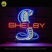 Wholesale Neon Glasses Frames - Shelby Snake Neon Sign Decorate Real Glass Tube Cool Neon Bulbs Recreation Room Garage Indoor Frame Sign Store Display VD 17x14