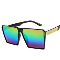 óculos únicos venda por atacado-Chegada Mulheres Quadrado de Luxo Óculos De Sol Oversize Exclusivo Claro Feminino óculos de Sol Óculos Grande De Soleil Gafas # 2A12
