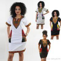 db028b3728b African Dresses For Women Indian Print Plus Size Dashiki Clothing Robe Femme  Boho Dashiki Fabric Summer Sexy Hippie