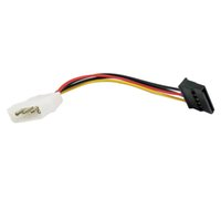 Wholesale 15 Serial - 10pcs Molex To SATA Power Adaptor Cable Lead 4 Pin IDE Male To 15 Pin HDD Serial ATA Converter Cables