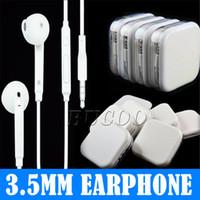 en iyi kulak mikrofonu toptan satış-En iyi Kalite 3.5mm Kulak Kulaklık Renkli Kulaklık Uzaktan Ve Mic Ile Kulaklık Telefon için Perakende kutusunda 5 6 7 artı