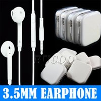 auriculares auriculares de micrófono remoto al por mayor-La mejor calidad de 3,5 mm en los auriculares coloridos auriculares con mando a distancia y micrófono para el teléfono 5 6 7 plus en caja al por menor