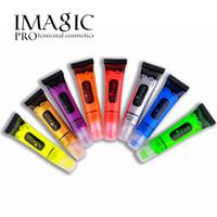 colores fluorescentes al por mayor-IMAGIC maquillaje belleza pintura fluorescente color de neón pintura del cuerpo uv lámpara reactiva Parte del cuerpo fluorescencia