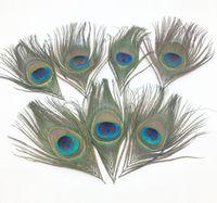 belles étapes de mariage achat en gros de-En gros 100 pcs / lot, longueur: 10-15 cm, belle plume de paon naturel pour la partie de mariage décorer la mode vraiment plume de paon