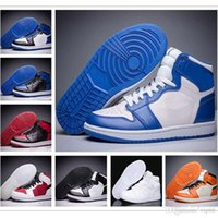 reputable site 17a81 05df2 Neue Mens 1 OG Top Männer Basketball Schuhe 1 S OG Turnschuhe AAA Qualität  Mandarinente Trainer Sport Turnschuhe Schuhe Größe 7-13