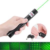 lazer işaretçi piller toptan satış-532nm Profesyonel Güçlü 301 Yeşil Lazer Pointer Kalem 303 Yeşil Lazer Pointer Kalem Lazer Işık Ile 18650 Pil