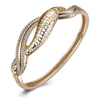 Wholesale Champagne Wedding Jewelry - Champagne Gold Geometry Bracelet Fashion Zircon Trends Row Jewelry Birthday Christmas Valentine Party Anniversary Gifts for Ladies Girls