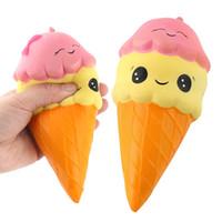 Wholesale Original Xmas Gifts - 2018 Kawaii Squishy Ice Cream Boy Girl Toy Cute Original Double Face Ice Cream Squishy Slow Rising Cartoon Toys Xmas Gifts