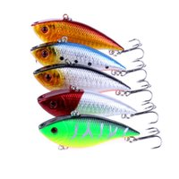 Wholesale sinking vib lures online - Color cm g Hot Vib Crankbait Lifelike Fishing Lure High Quality Fishing Bait Slow Sinking Hard Fish Wobbler Pesca