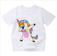 c5b356cfdcf64 Vente en gros animaux mignons d'impression coloré bébé vêtements pour  enfants vêtements à manches courtes pull d'été t-shirt pour cadeau de jour des  enfants