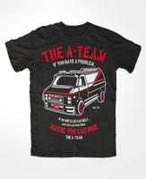 ingrosso stampa di pellicole auto-La T-Shirt Auto Auto A-TEAM FUN TV Serie Film Mr.T. Hannibal Murdock Face B.A. T-shirt con stampa regalo T-shirt Hip Hop Tee NUOVO ARRIVO