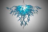 ingrosso lampada a sospensione di carciofi-Lampada a sospensione industriale antica in vetro color acqua per la decorazione del ristorante di casa Lampade a sospensione a LED in cristallo in vetro soffiato