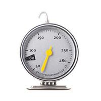 çevirme gıda termometresi toptan satış-Yeni Paslanmaz Çelik Pişirme Araçları Mutfak Fırın Termometre Gıda Et Dial Fırın Adanmış Mekanik Pişirme Termometre 50-280 Derece Dial