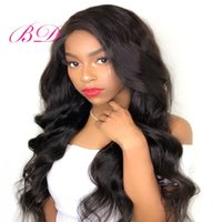 Wholesale human hair wig remy glueless for sale - BD Brazilian Virgin Remy Hair Body Wave Lace Front Wigs Hair Glueless Human Hair Wigs for Black Women