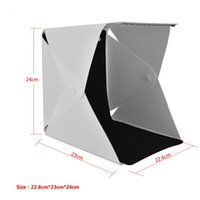 Wholesale portable photography light kit online - Portable Foldable Mini Studio Photography Light Box Tent Kit cm with Colors Backgrounds