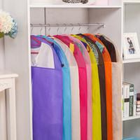 almacenamiento de abrigo al por mayor-Bolsa de almacenamiento Estuche para ropa Organizador Traje Traje Abrigo Cubierta de polvo Protector Guardarropa Bolsa de almacenamiento para ropa