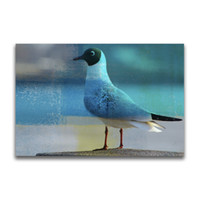 Wholesale framed office wall art - YJ ART Dove in the winter Unframed Modern Canvas Wall Art for Home and Office Decoration, Animal ,Frame painting
