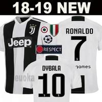 Wholesale football jerseys black - 18 19 Juventus Soccer Jersey 2018 JUVE Home RONALDO DYBALA HIGUAIN MANDZUKIC D. Costa BUFFON Football Shirt BLACK WHITE 2019 Men Woman