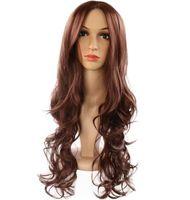 ingrosso parrucche delle bambole del sesso-Modelli di esplosione Europa e America parrucche donna parrucca capelli multi-colore medio e lungo parrucche chimica parrucche bambola del sesso vergine