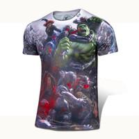 super-héros comique achat en gros de-Marvel COMICS Cartoon Super Hero Les Avengers Affiche American T shirt maillot Homme USA camisetas masculinas Vêtements 4XL
