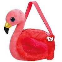 boneca de coração de pelúcia venda por atacado-Ty Plush Mochilas Gilda o Flamingo Único Saco de Ombro Bicho de Pelúcia Coleção de Brinquedos com o Coração Tag 7