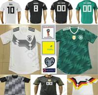 Wholesale Germany National - 2018 World Cup National Germany Football Jersey Muller Gotze Reus Kroos Draxler Neuer Ozil Boateng Custom Black White Green Soccer Shirt