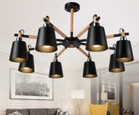 Wholesale wood working irons - creative Japan wrought iron wood ceiling light living room bedroom Restaurant Ceiling light