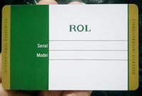 am besten entworfene uhren großhandel-10 teile / los Hohe Qualität Besten Design luxus Grün rx, hblot, mb karte für stift / brieftasche / uhr / armband