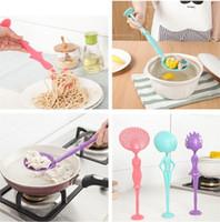 ingrosso plastica del colino della cucina-Vendita calda creativo elettrodomestici da cucina multi-funzione cucchiaio da minestra cucchiaio di pasta colorata colino di plastica colorato T3I0006