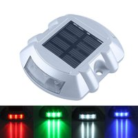 Wholesale patio deck lighting online - New Solar Lights Solar Deck Lights LED Dock Light Step Road Path Light Waterproof Security Warning Driveway Lights for Outdoor Fence Patio
