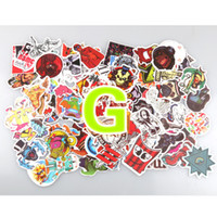 Wholesale wholesale laptops stickers for sale - 100Pcs pack DIY Car stickers Waterproof Funny Cute Sticker for Car Trunk Skateboard Guitar Laptop Gridge Toy Decal Car styling