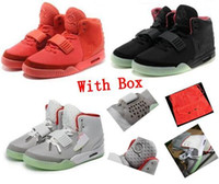 Wholesale footwear soccer shoes online - NRG Best Quality Men s Basketball Red Gray black October Sport Kanye Basketball II Footwear Trainers Shoes with box size eur