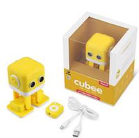 crianças controle remoto robô venda por atacado-Cubee Robot Crianças brinquedo Cubee F9 Programação Inteligente Controle APP Controle Remoto Robô Dançando robô cubee presente de Natal kid gif