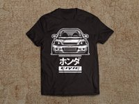 Wholesale honda b16 - HONDA CIVIC 6GEN T-SHIRT MENS short sleeve TYPE-R 6RD CAR B16 B18 JDM S M L XL