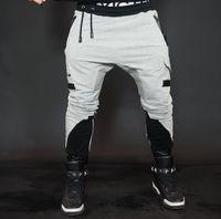Wholesale harem trousers free pattern for sale – dress New Men Jogger Pants High Quality Casual Fashion Harem Pants Men Outdoor Sport Sweatpants Hip Hop Black Training Trousers