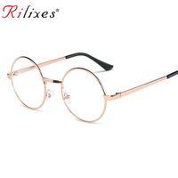bild ebenen großhandel-RILIXES DH Auge Bilderrahmen Mode Männer Und Frauen Brille Europäischen Trend Plain Glass Brillengestell Trendsetter Notwendig