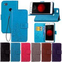 zte blade leder flip großhandel-Premium PU Leder Flip Fold Wallet Case mit [IDCredit Card Slot] für ZTE Nubia Blade V8 V9