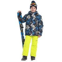 New Boys Winter Warm Sport Coat Sets Ski Suit Outdoor Hooded Jackets+Pants  Kids Snowboarding Skiing Ice Snow Thickened Suits dbd8a2940