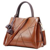 tassel leather handbag Australia - 2018 summer new handbag leather handbag casual European and American fashion leather shoulder bag diagonal cross bag tassel big bag