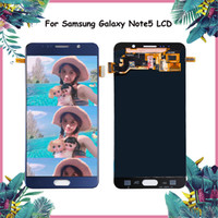 Wholesale lcd digitizer for galaxy note resale online - ORIGINAL Super AMOLED LCD for SAMSUNG Galaxy Note LCD Display Note5 N920A N9200 SM N920 N920C Touch Screen Digitizer