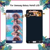affichage 5.7 achat en gros de-ORIGINAL 5.7 '' LCD Super AMOLED pour SAMSUNG Galaxy Note 5 Écran LCD Note5 Digitizer à écran tactile N920A N9200