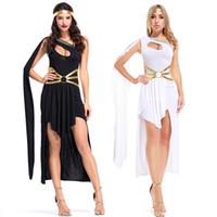 frauen griechische göttin kostüm großhandel-Mode Griechische Göttin Kleid Unregelmäßige Party Rock Dance Königin Kostüm Halloween Party Bühne Arabischen Prinzessin Maskerade Phantasie Kostüm Frauen