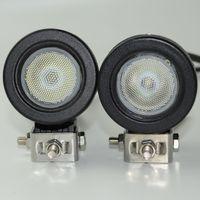 luces redondas del tractor al por mayor-2 unids 10 W LED luz de trabajo luz de conducción del coche SUV ATV 4WD AWD 4X4 Auto Tractor campo a través de la motocicleta camión bicicleta faro antiniebla