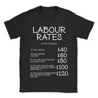 más el tamaño de la novedad camisetas al por mayor-Tasas de trabajo Camiseta para hombre Presente divertido para mecánico Fontanero Electricista Constructor Hombres Camiseta Novedad O-cuello Tops Camiseta Tallas grandes
